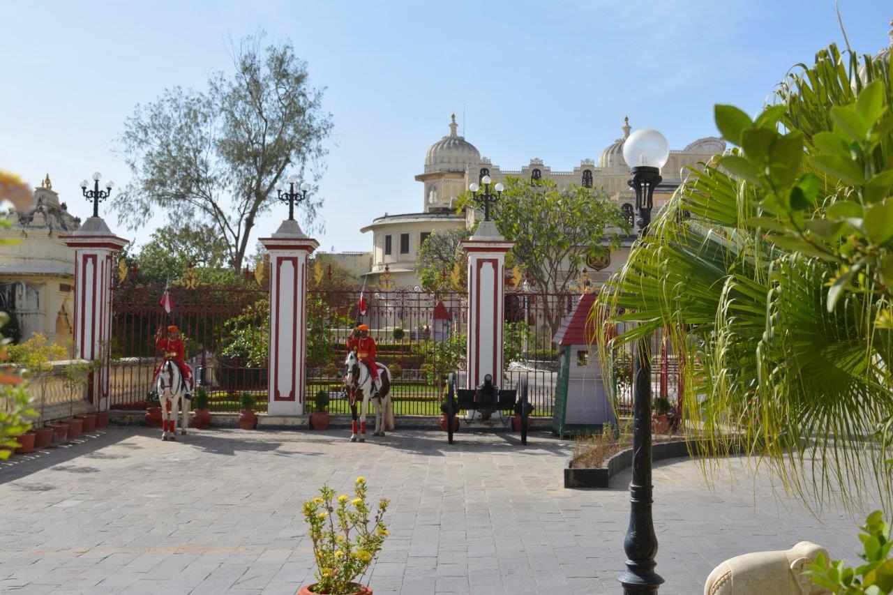 Horse sentries City Palace Udaipur